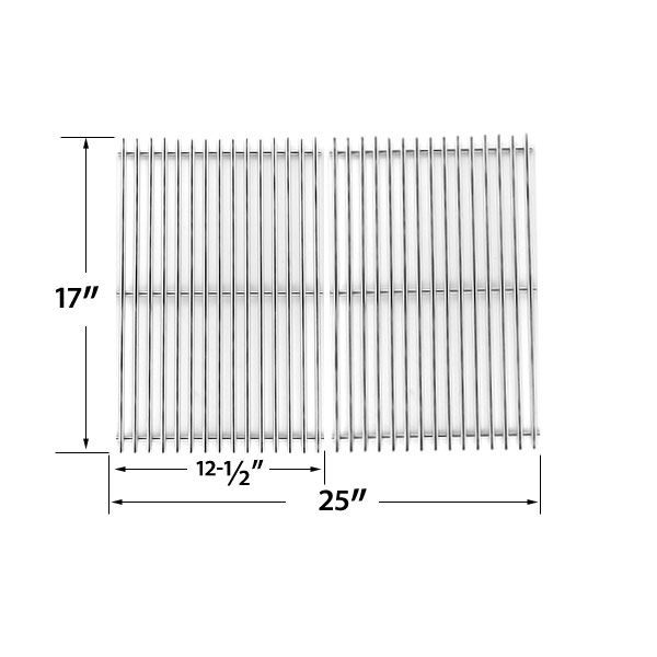 2 PACK STAINLESS STEEL COOKING GRID REPLACEMENT FOR CHARBROIL 463250509, 463250510, 461262409 AND BROIL-MATE 8218TEXAN25, 8248TEXAN50 GAS GRILL MODELS  Fits Charbroil Models : 463250509, 463250510, 461262409  BUY NOW @ http://grillrepairparts.com/shop/grill-parts/stainless-steel-cooking-grid-replacement-for-charbroil-463250509-463250510-461262409-and-broil-mate-8218texan25-8248texan50-gas-grill-models-set-of-2/