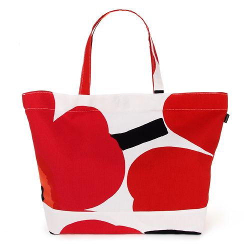 Marimekko Red Unikko Tote Bag $115.00