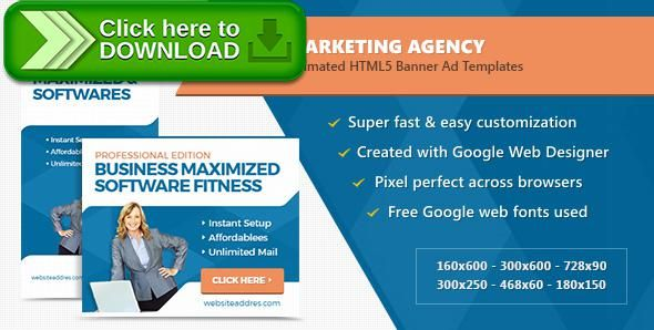[ThemeForest]Free nulled download Marketing Agency Banner Ad Templates - HTML5 Animated from http://zippyfile.download/f.php?id=48397 Tags: ecommerce, ads, advertising, adwords, animated, banner designs, banners, business, corporate, doubleclick, finance, google web designer, html5, technology, templates, web banners