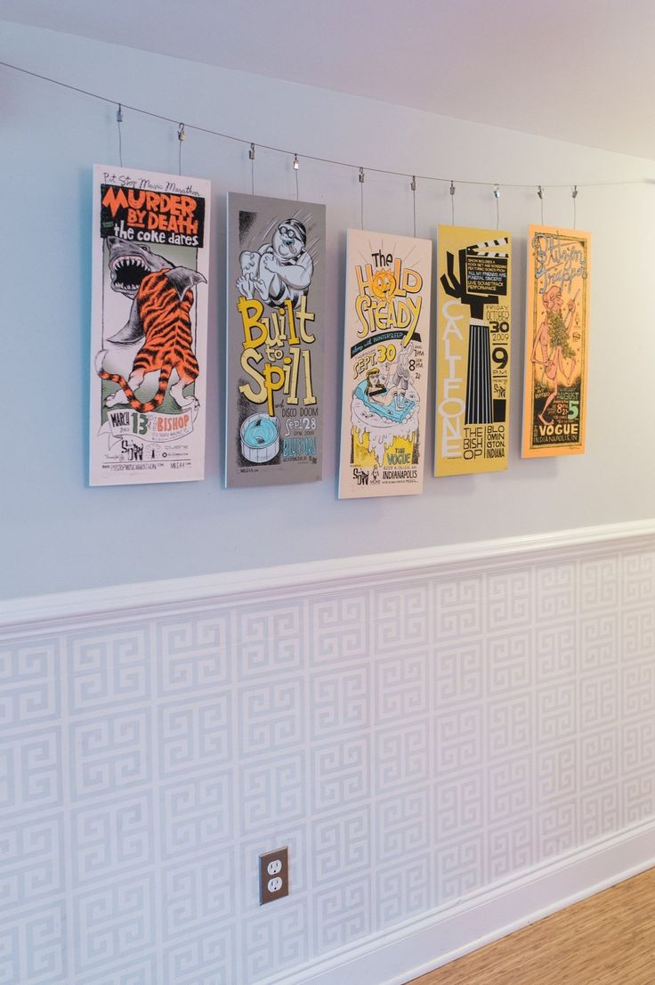 Band poster display | apartment therapy | Katie & Patrick's Renovated Former Foreclosure