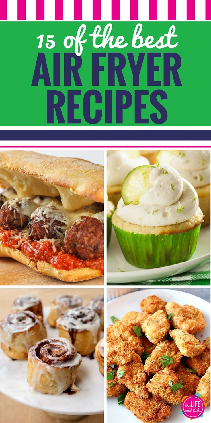 Are you into clean eating? If you don't have an air fryer machine yet, these 15 recipes will make you want to get one ASAP. From chicken to healthy fries to vegetables, beef, pork, fish, desserts, vegan, gluten free and even Weight Watchers approved ideas, I'm sharing 15 of the BEST air fryer recipes. (Plus I'll show you where to buy the one with the best reviews!) #airfryer #airfryerrecipes #recipes #cleaneatingrecipes #cleaneating