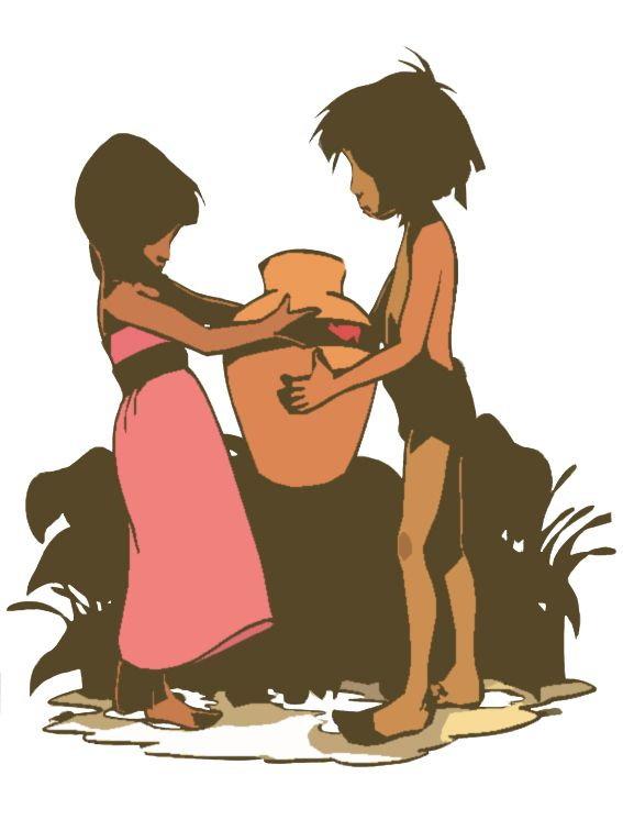 The gallery for --> The Jungle Book Mowgli And Shanti