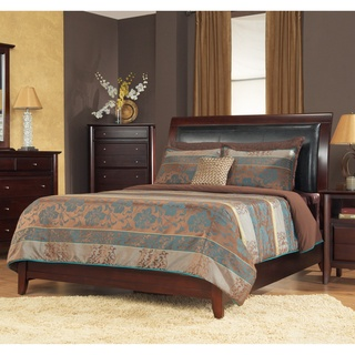 @Overstock - Sleep in elegance in a sleigh bed that is as timeless as it is trendyBedroom furniture features luxuriously padded leatherette headboard panelQueen size bed is constructed from tropical mahogany woodhttp://www.overstock.com/Home-Garden/Padded-Synthetic-Leather-Queen-size-Sleigh-Bed/4325390/product.html?CID=214117 $561.99