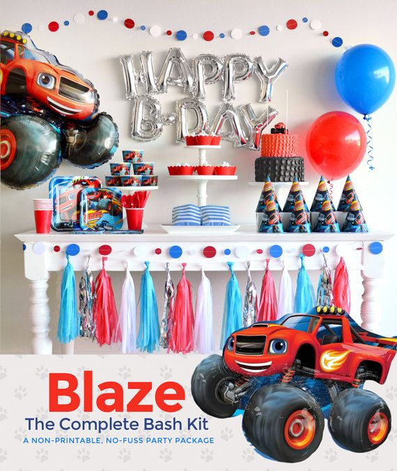 Blaze and the Monster Machines Party Supplies and by BASHKITS