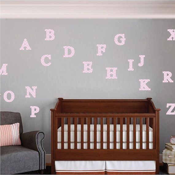 Alphabet Wall Decals Alphabet Wall Designs Alphabet By PrimeDecal