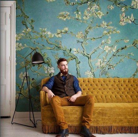 fotobehang BN Wallcoverings Van Gogh 30548 Amandelbloesem