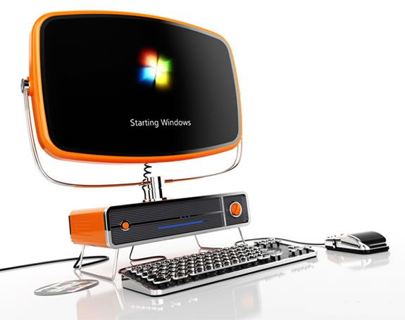 Philco PC Ordenador Retro: I'm a Mac but I love this idea! The monitor is gorgeous and I love the typewriter keyboard.