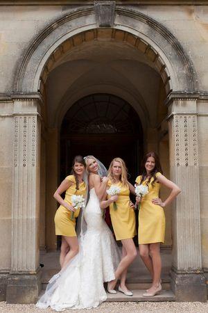 Yellow Bridesmaid Dresses - Charlene Morton Photography for Bisou Bride - UK