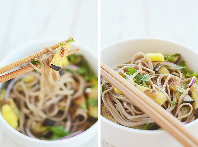 Ottolenghi's soba noodles with aubergine and mango | Dinner ...