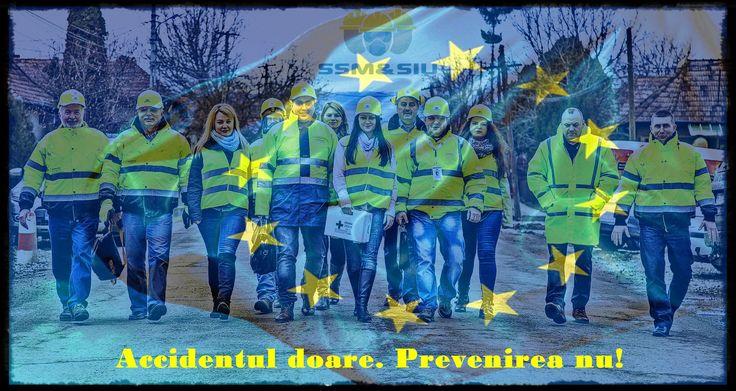 De Ziua Europei de trei ori Europa: - suntem europeni - oferim servicii europene - asigurăm calitate europeană!  Nu uitați: Accidentul doare. Prevenirea nu!