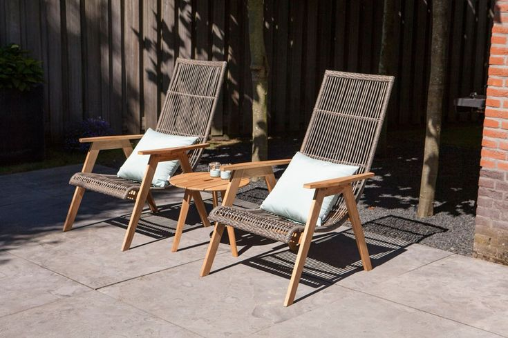 Exotan Mabel loungestoel set van 2 - Teak.nl