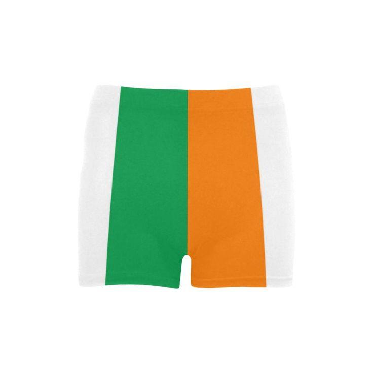 Irish Flag Women's Spandex Shorts