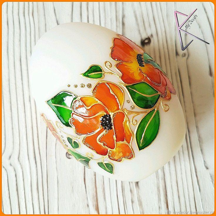 Купить Пасхальное яйцо (светящееся) - Пасха, ночник, оранжевый, подарок, светильник, яйцо, сувенир