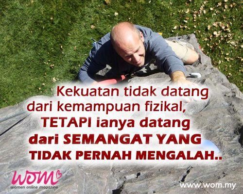 #Motivasi #Semangat #Tidakmengalah www.wom.my
