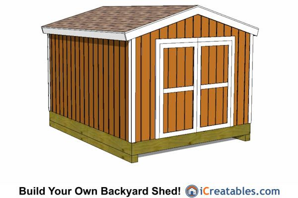 10x12 backyard gable shed plans 10x12 shed plans for Gable barn plans