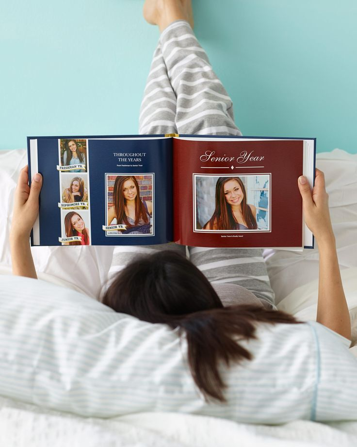 Give your graduate something special to look back on their school years with a personalized photo book. | Shutterfly