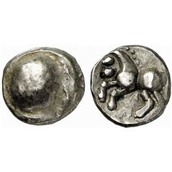 CELTIC COINS, THE ALPS AND EASTERN EUROPE, NORICUM, Obol, type  Karlstein . AR 0.70 g. Circular r…