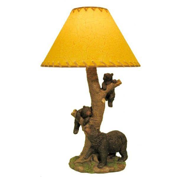 Climbing Bears Table Lamp Table Lamp Table Lamp Wood Lamp