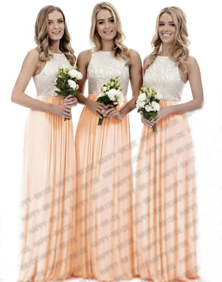 New Chiffon Wedding Bridesmaid Dresses Formal Party Ball Prom Gown Dress 6-18