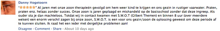 Danny Hogetoorn vertelt het volgende over S.W.O.T. training [opvoeden | weerbaarheid | Pesten]