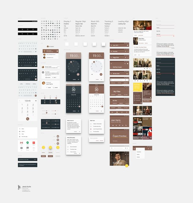 Free Download : Material Design UI Kit