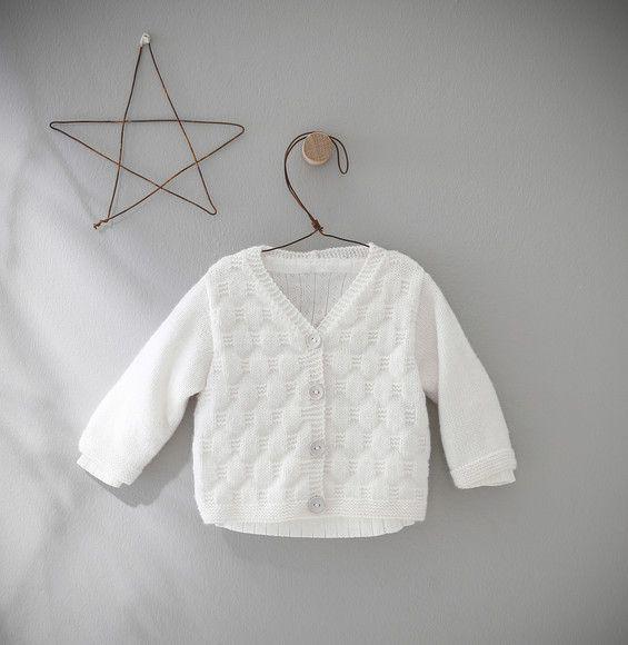 Modèle gilet blanc layette Partner Baby - Modèles Layette - Phildar