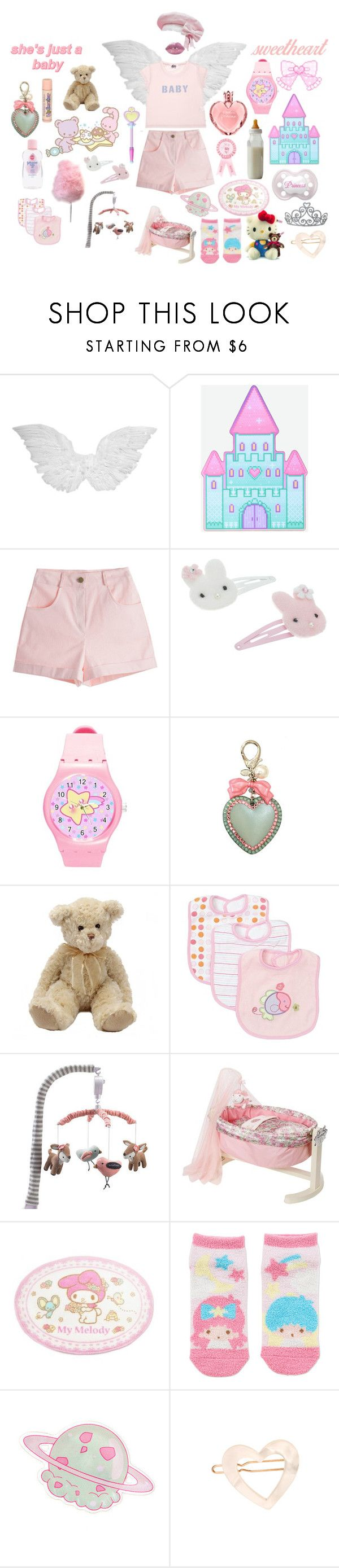 """""""i'm 2 yrs old*"""" by iojupiter ❤ liked on Polyvore featuring Cotton Candy, Monsoon, Tarina Tarantino, Lolli Living, France Luxe, pastel, ddlg, littlespace, aesthetic and cgl"""