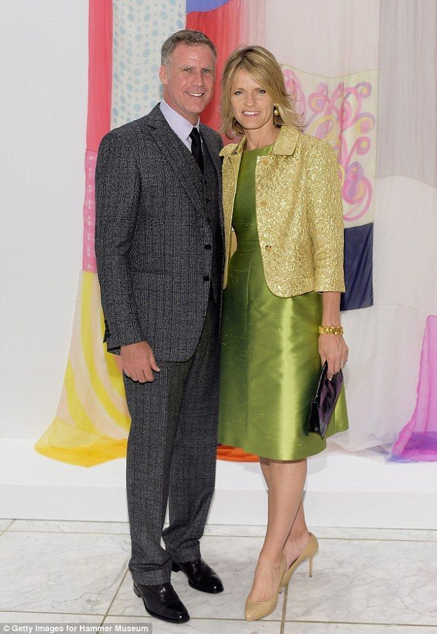 Lovely couple: Will Ferrell and wife Viveca Paulin made a stylish pair...