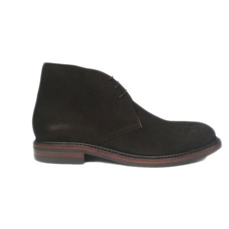 Zapato botín chukka ante marrón goma dainite Berwick 1707 vista lateral
