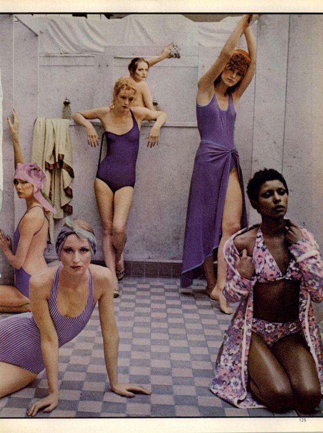Deborah Turbeville, Vogue Editorial There's More to a Bathing Suit Than Meets The Eye, May 1975
