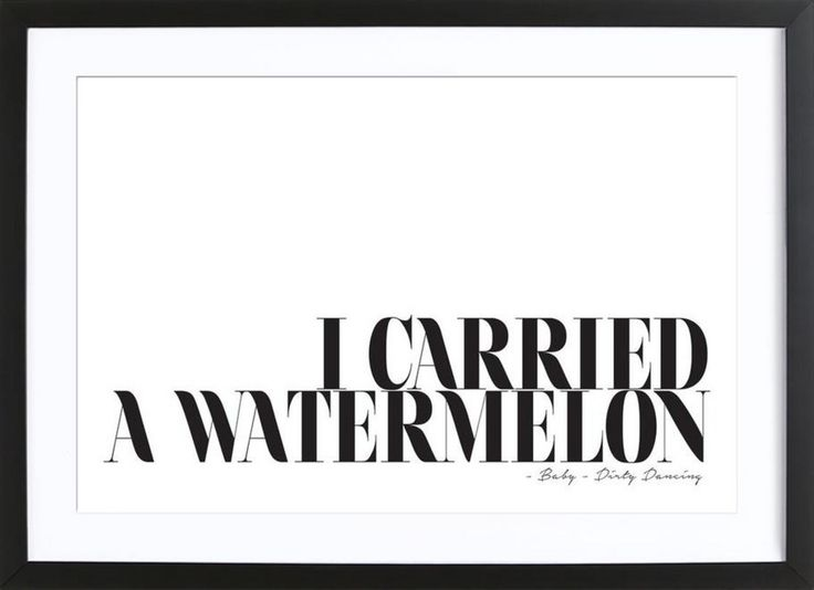 I Carried A Watermelon als Gerahmtes Poster von Honeymoon Hotel | JUNIQE
