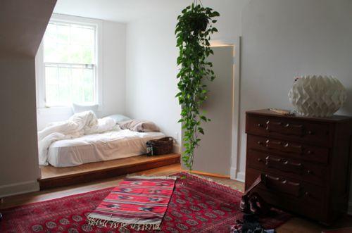 Platform bed Bedroom, ideas, room, creative, interior, home, house, organization, apartment, storage, indoor, modern, vintage, sleep. bed, sleeproom, furniture, decor, decoration.