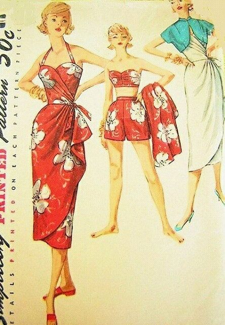 Hey, I found this really awesome Etsy listing at https://www.etsy.com/listing/206746521/reproduction-50s-tiki-sarong-dress-pinup
