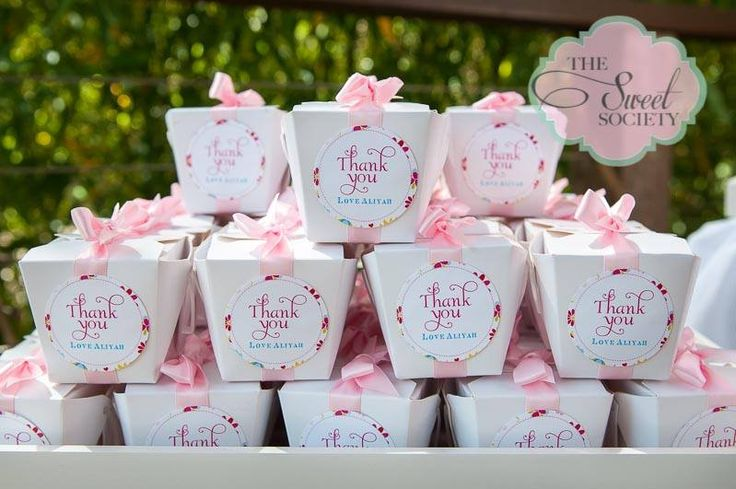 whimsical wonderland  garden party via babyshowerideas4u thank you chinese take out favor boxes