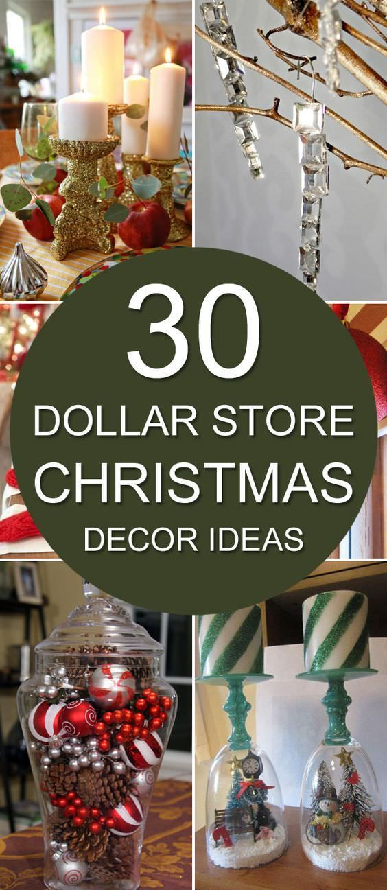 CHRISTMAS is coming! Excited? Why not! Here're some great decorating ideas for Christmas using items from the Dollar Store.