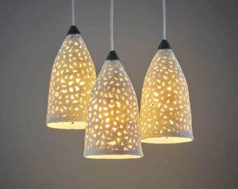 De la iluminación. Lámparas colgantes de porcelana. Iluminación de la lámpara. Luces de techo. Lámparas de suspensión. iluminación de la cocina. Lámparas colgantes de cerámica