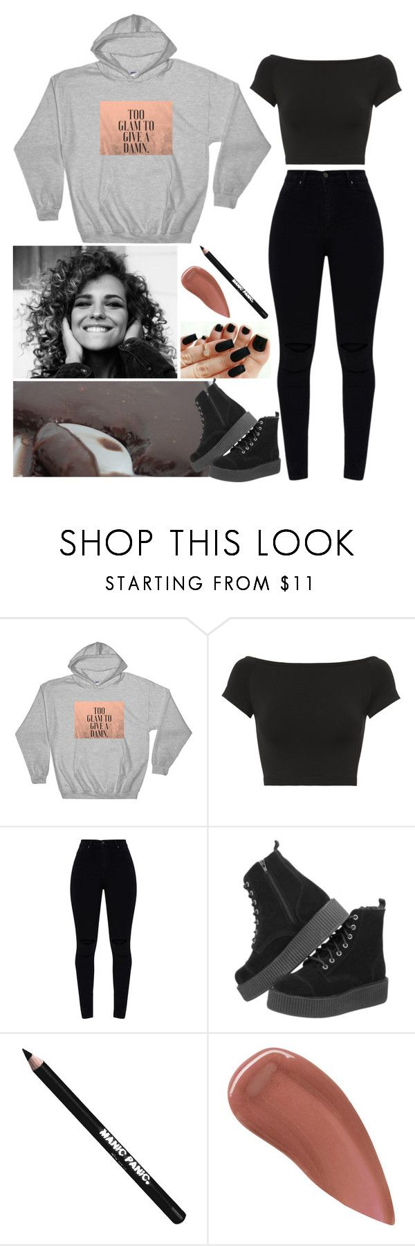 """Make a set!"" by annacastrolima ❤ liked on Polyvore featuring Helmut Lang, T.U.K., Manic Panic NYC, Lipstick Queen, comfy and blackandgray"