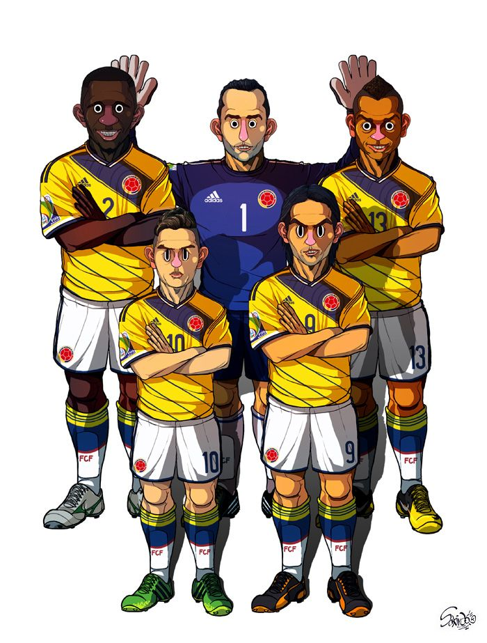 [2014 World cup Edition] C team : Colombia by sakiroo.deviantart.com on @deviantART