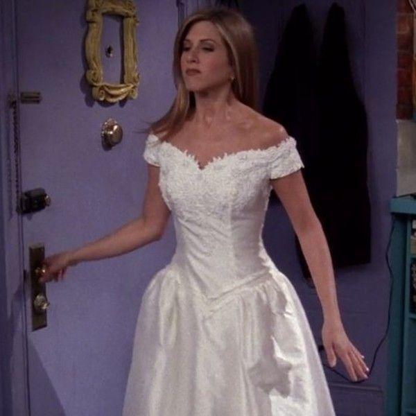 Rachel Green In Friends Famous Wedding Dresses Worst Wedding