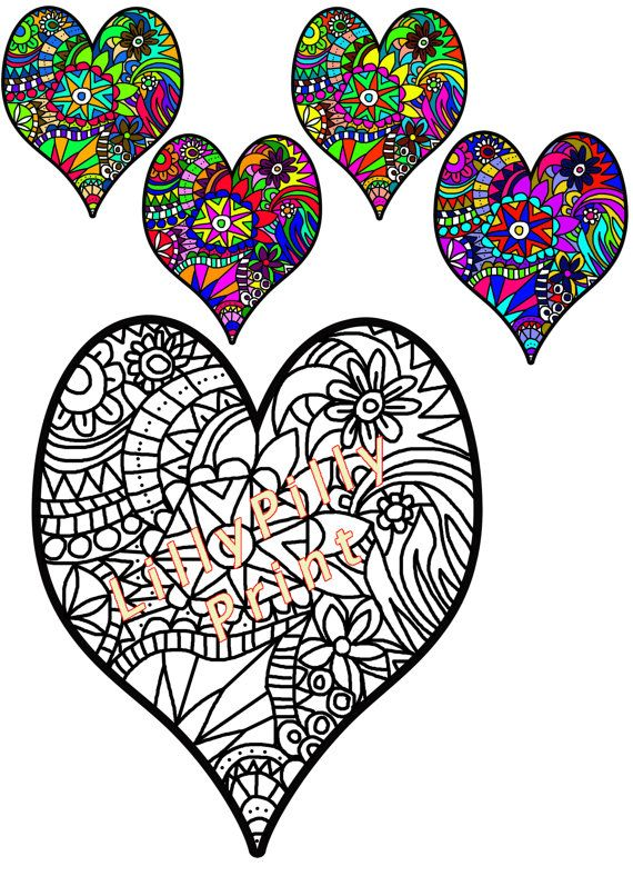 heart colouring in page coloring for adults by lillypillyprint valentines day colouring page