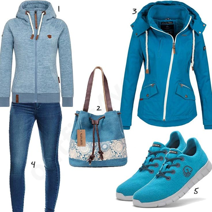 Sportliches Damenoutfit in Türkis und Blau (w1017) #blau #türkis #navahoo #giesswein #sneaker #schuhe #outfit #style #fashion #womensfashion #womensstyle #womenswear #clothing #frauenmode #damenmode #handtasche #inspiration #frauenoutfit #damenoutfit