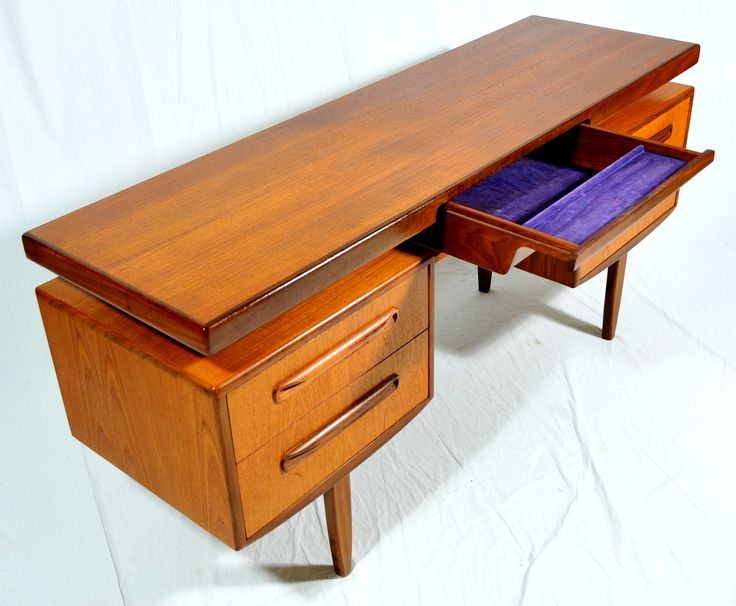 Sixties desk by G-Plan, design most probably by Kofod Larsen