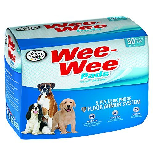 Four Paws Wee-Wee Dog Training Pads, 50-Pack - Our Wee-Wee Dog Training Pads provide worry-free dog potty training when nature calls! Dog training pads are a convenient alternative to outdoor relief, especially with these easy-to-dispense training pads. Whether you're house training your puppy, adult, or senior dog, our Wee-Wee pads are 100% ...