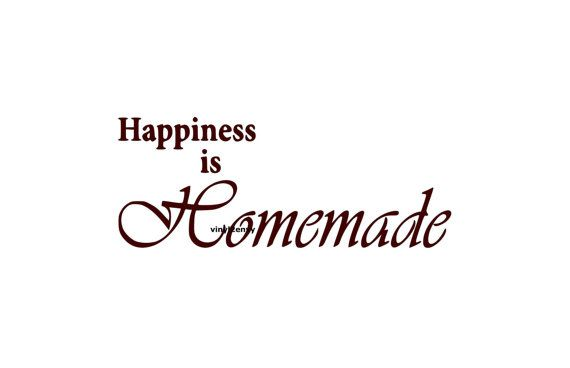 Happiness is Homemade Wall Decal Vinyl Wall Decals Wall Decor Vinyl Signage Wall Stickers Wall Quotes Family Wall Decals Marriage Decals on Etsy, $14.50