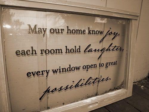Add vinyl lettering to an old window.