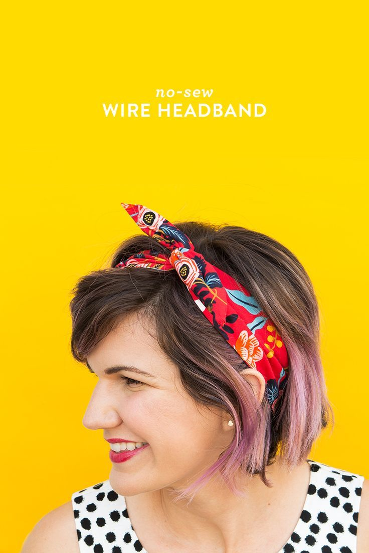 Use up scraps of your favorite fabrics to create this easy no-sew wire headband…