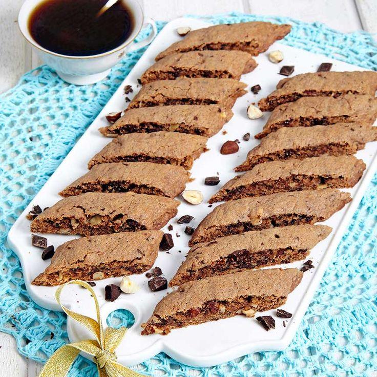 Supergoda cookies utbakade som snittar i stället för de klassiska runda kakorna.