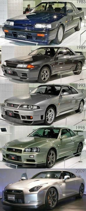 Nissan Skyline family tree.  And each one is quite fantastic in my humble opinion.