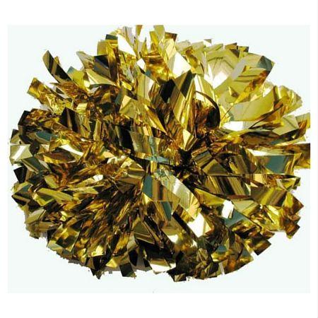 Wholesale Gold Metallic Cheerleading Pom Poms