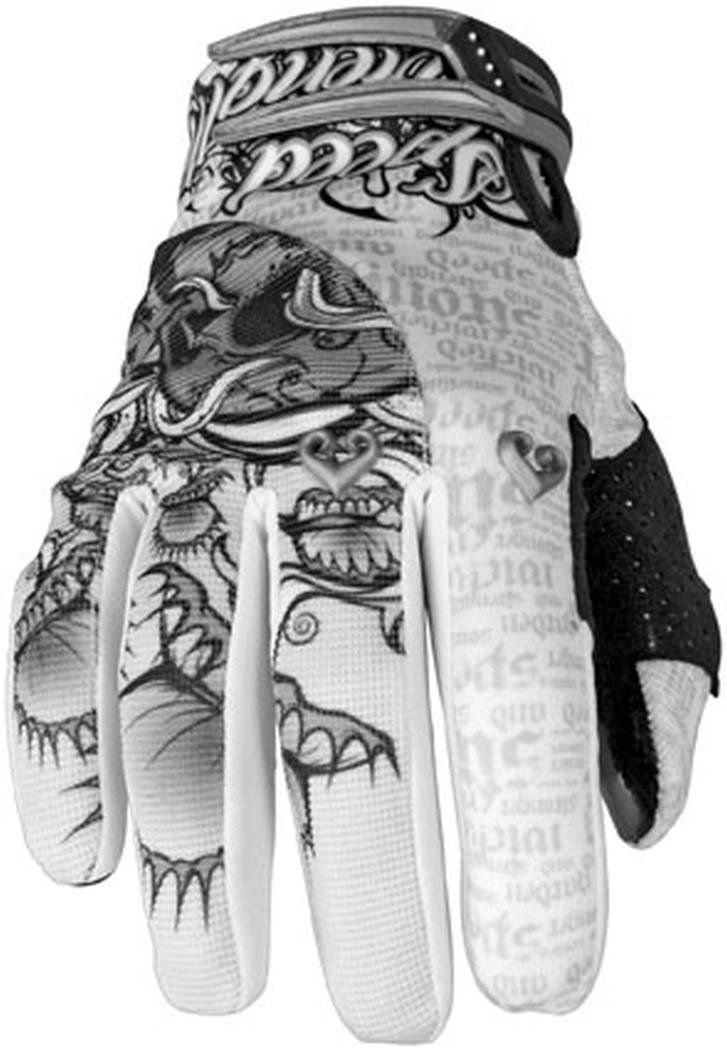 Amazon.com: Speed and Strength Wicked Garden Women's Leather/Mesh Street Motorcycle Gloves - White/Silver / Medium: Automotive